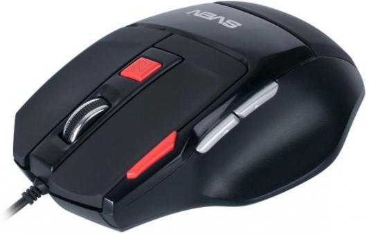 цены Мышь проводная Sven GX-970 Gaming чёрный USB