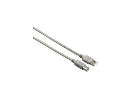 Кабель USB 2.0 AM-BM 1.5м Hama серый H-53722