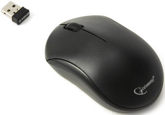 Мышь беспроводная Gembird MUSW-205 чёрный USB мышь беспроводная hp 200 silk золотистый чёрный usb 2hu83aa
