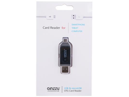 Внешний картридер Ginzzu GR-583UB + microUSB OTG Host черный ginzzu fx 115gl
