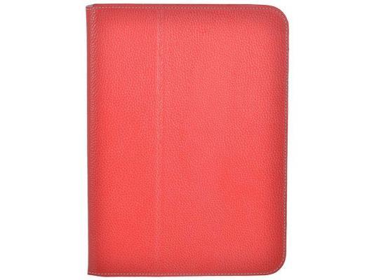 """Чехол Jet.A SC10-26 для Samsung Galaxy Tab 4 10"""" натуральная кожа красный"""