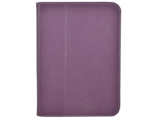 """Чехол Jet.A SC10-26 для Samsung Galaxy Tab 3 10.1"""" натуральная кожа фиолетовый"""
