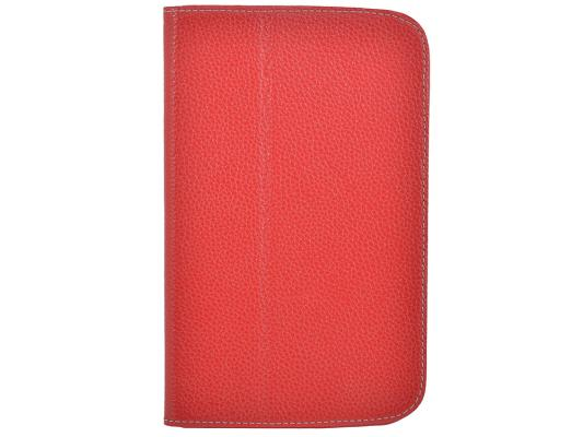 """Чехол Jet.A SC7-26 для Samsung Galaxy Tab 3 7"""" натуральная кожа красный цена и фото"""