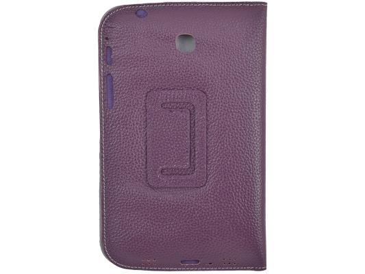 """Чехол Jet.A SC7-26 для Samsung Galaxy Tab 3 7"""" натуральная кожа фиолетовый цена и фото"""