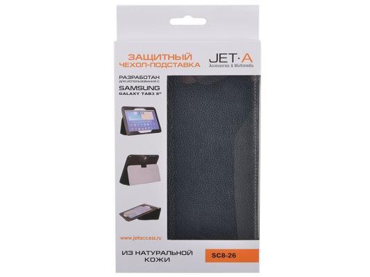 """Чехол Jet.A SC8-26 для Samsung Galaxy Tab 4 8"""" натуральная кожа черный"""