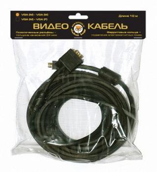 Кабель VGA 5м Konoos золот.разъемы тройной экран феррит.кольца KC-PPVGA-5M черный
