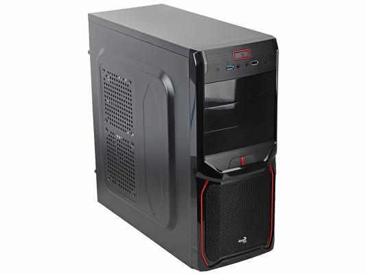 Корпус ATX Aerocool V3X Advance Devil Red Edition Без БП чёрный EN57400
