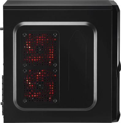 Корпус ATX Aerocool V3X Advance Devil Red Edition Без БП чёрный EN57400