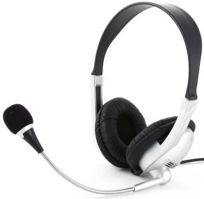 Проводная гарнитура Gembird MHS-615 Silver-Black все цены