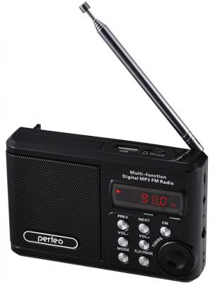 Портативная акустика Perfeo Sound Ranger Black (PF-SV922BK) портативная акустика perfeo sound ranger 2 вт fm mp3 usb microsd bl 5c 1000mah черный pf sv922bk
