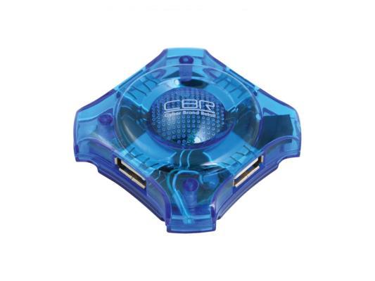 Концентратор USB 2.0 CBR CH-127 4 x USB 2.0 голубой