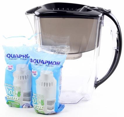 Фильтр для воды Аквафор ПРЕСТИЖ(Р80B05SM) кувшин черный 1шт