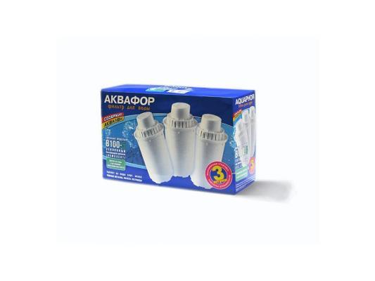 Сменный модуль для фильтра АКВАФОР В100-5 усиленный бактерицидной добавкой в комплекте 3 шт