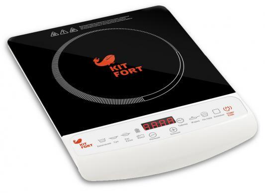 Плитка электрическая KITFORT КТ-101 кнопочное управление 2000 Вт таймер