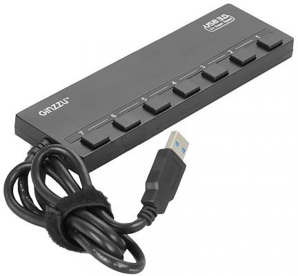Концентратор USB 3.0 GINZZU GR-388UAB 4 х USB 3.0 3 x USB 2.0 черный концентратор usb 3 0 vcom telecom dh310 4 х usb 3 0 черный page 4