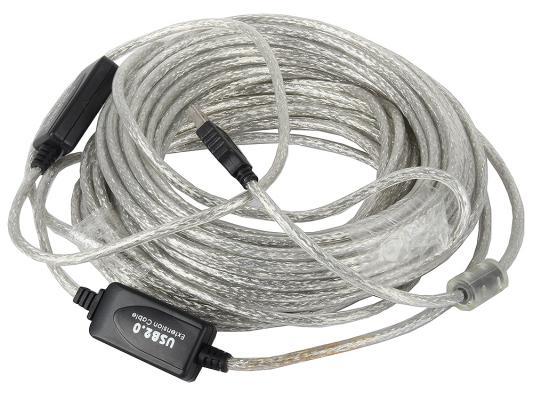 Купить со скидкой Кабель VCOM Telecom USB 2.0 AM-AF 15м удлинительный активный (VUS7049)