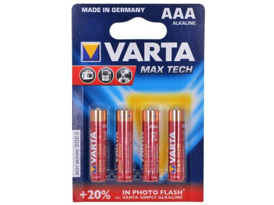 Батарейки Varta Max Tech AAA 4 шт майка print bar shawn crahan