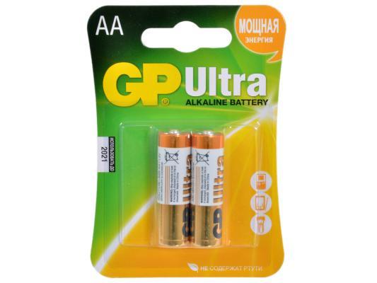 Батарейки GP Ultra Alkaline 15AU AA 2 шт батарейки gp 15aup 2cr2 ultra plus alkaline aa 2шт