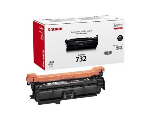 Лазерный картридж Canon 732Bk для LBP7780Cx 6100стр., черный принтер лазерный canon i sensys lbp7780cx