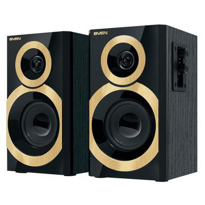 Колонки Sven SPS-619 2x10 Вт черный-золотистый цена