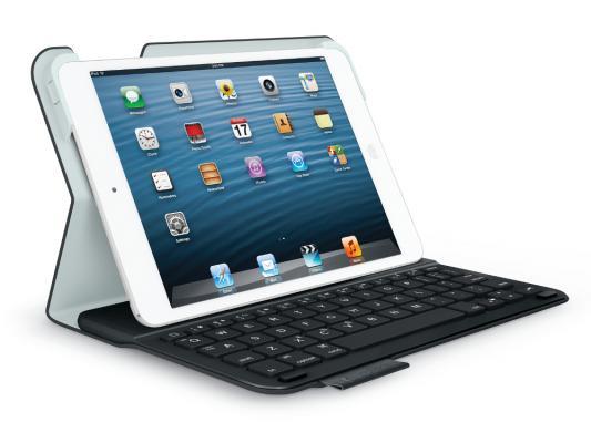 Клавиатура беспроводная Logitech UltraThin Keyboard Folio Carbon для iPad Mini футляр черный 920-006101