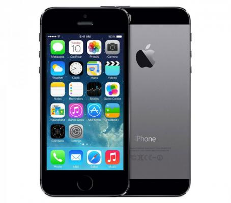 "Смартфон Apple iPhone 5S серый 4"" 16 Гб GPS Wi-Fi LTE ME432RU/A"
