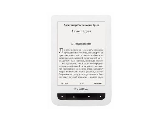 "Электронная книга PocketBook 624 6"" E-Ink Pearl 4Gb SD Белый PB624-D-RU"