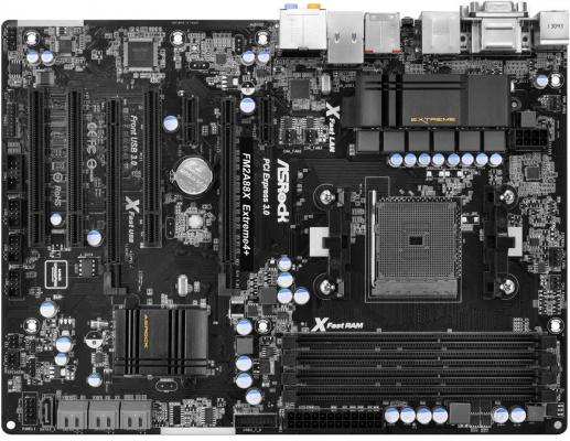 Материнская плата ASRock FM2A88X Extreme 4+ Socket FM2 AMD A88 4xDDR3 2xPCI-E 16x 2xPCI-E 1x 3xPCI 7xSATA Raid 7.1 Sound Glan ATX Retail