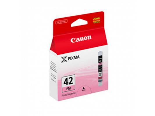 Струйный картридж Canon CLI-42PM пурпурный для PRO-100 картридж canon cli 42lgy для pro 100 серый 835 фотографий