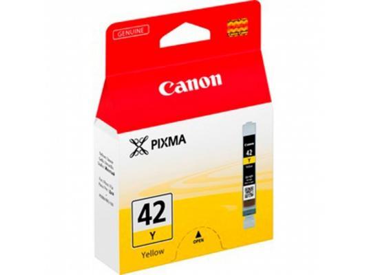 Струйный картридж Canon CLI-42Y желтый для PRO-100 картридж струйный canon cli 521y 2936b004 желтый для canon ip3600 4600 4700 mp540 550 560 620 630 640 980 990 mx860