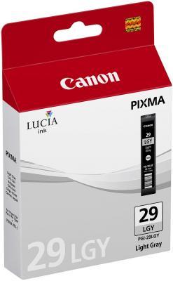Струйный картридж Canon PGI-29LGY светло-серый для PRO-1 352стр. светло серый цв 18