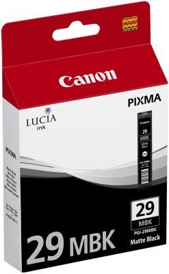Картридж Canon PGI-29MBK для PRO-1 матовый черный 505 страниц картридж canon pgi 29pm для pro 1 пурпурный 228стр