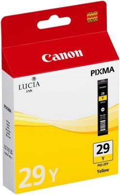 Струйный картридж Canon PGI-29Y желтый для PRO-1 290стр. чернильный картридж canon pgi 29pm