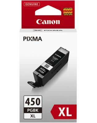 Картридж Canon PGI-450XL PGBK для iP7240 MG5440 MG6340 черный 500 страниц картридж струйный canon pgi 450xlpgbk 6434b001 черный для canon pixma ip7240 mg6340 mg5440
