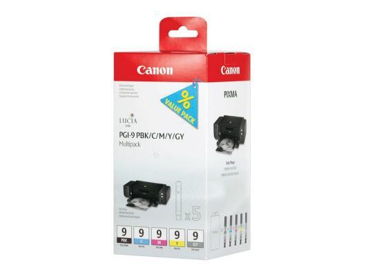 Картридж Canon PGI-9 PBK/C/M/Y/GY для PIXMA MX7600 Pro9500 pro9500 фотокартридж черный голубой пурпурный жёлтый серый