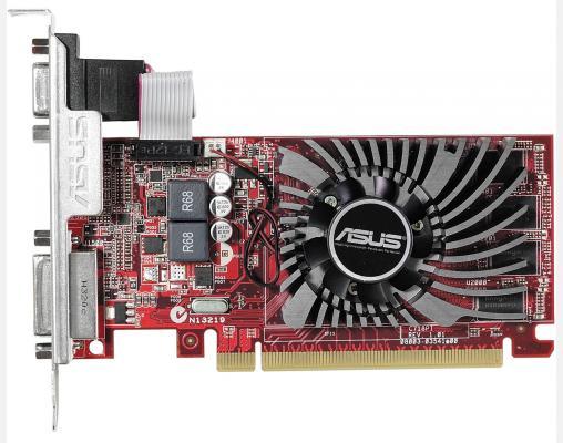 Видеокарта 2048Mb ASUS R7 240 2GD3 L PCI-E 128bit GDDR3 2xDVI HDMI DP R7240-2GD3-L Retail