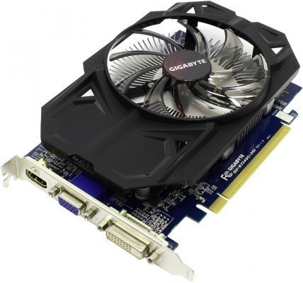 Видеокарта 2Gb <PCI-E> GIGABYTE R7 240 <D-Sub, DVI, HDMI, Retail> (GV-R724OC-2GI)