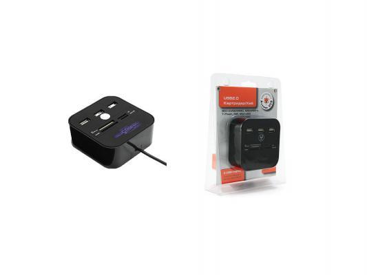 USB ������������ Konoos UK-29 3�USB 2.0 + ��������� SD/miniSD/MMC/MicroSD/MS
