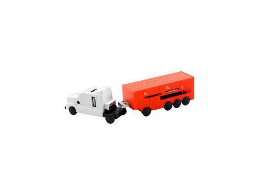 Концентратор USB 2.0 Konoos UK-41 4 x USB 2.0 белый красный