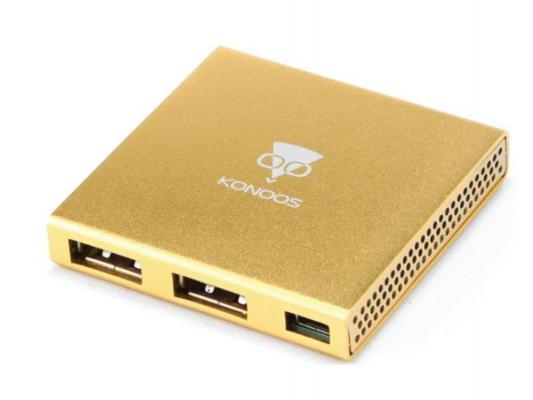 USB концентратор Konoos UK-36 4хUSB алюминиевый
