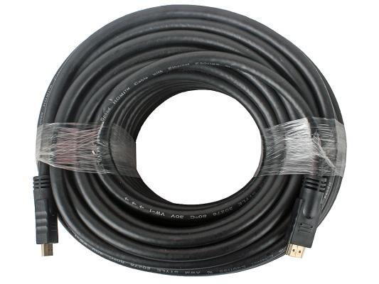 Кабель HDMI 30м Gembird CC-HDMI4-30M круглый черный