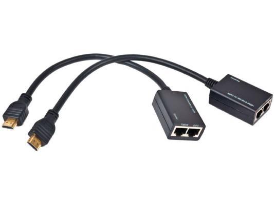 Удлинитель HDMI Gembird v1.4 HD19Mx2/RJ45Fx2 по витой паре DEX-HDMI-01