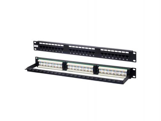 """Патч-панель Hyperline PP2-19-24-8P8C-C6-110 19"""" 1U 24 порта RJ-45 категория 6 Dual IDC от 123.ru"""
