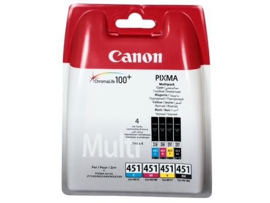 Струйный картридж Canon CLI-451 BK/C/M/Y для MG6340/MG5440/IP7240 набор картриджей canon cli 451 c m y bk