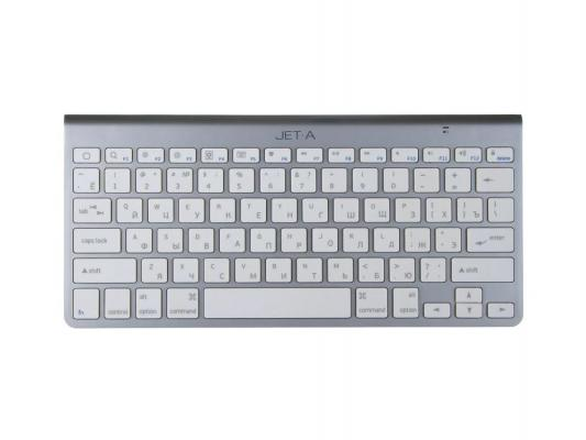 Клавиатура Jet.A SlimLine K9 BT для планшетов серебристый клавиатура беспроводная jet a slimline k9 bt silver