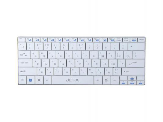 Клавиатура Jet.A SlimLine K7 W USB ультракомпактная белый клавиатура bluetooth ультракомпактная jet a slimline k9 bt silver для планшетных компьютеров