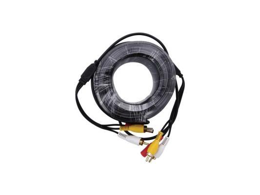 Кабель Orient CVAP-20 для камер видеонаблюдения BNC+RCA+питание 20м кабель orient для камер видеонаблюдения cvap 20 видео bnc аудио rca питание 20 м oem