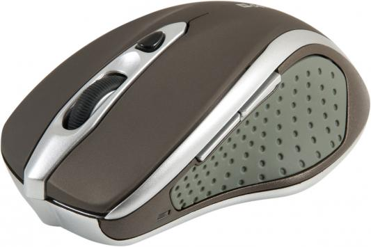 Мышь беспроводная DEFENDER Safari MM-675 Nano коричневый USB 52678 цены