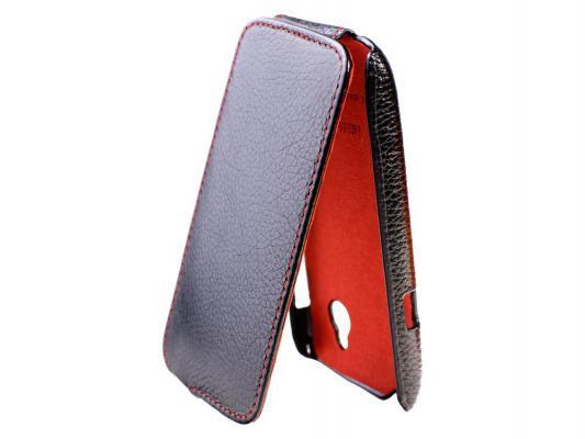 Чехол-книжка iRidium для HTC Desire С натуральная кожа черный