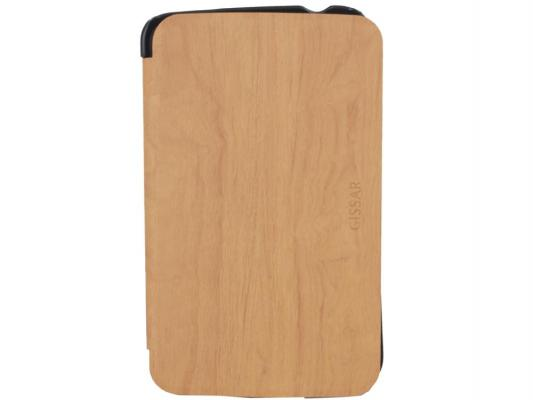"Чехол Gissar Wooden 71462 для Samsung Galaxy Tab3 7"" Brown, кожа"